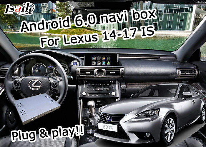 GPS Android navigation box Lexus IS200t IS300h knob mouse